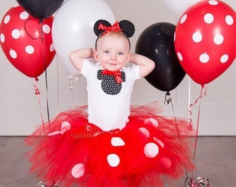 Minnie Mouse Tutu Birthday Set