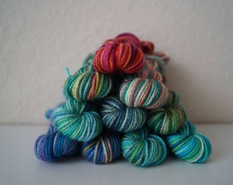 Vacation Hues Mini Skein Set - Hand Dyed Yarn - 100 Grams