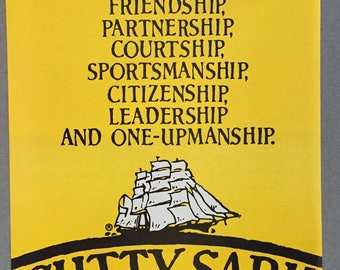 1979, 1980 Lot of 2 Cutty Sark Scotch Whisky Print Ad