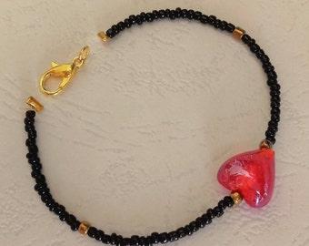 Murano Heart bracelet