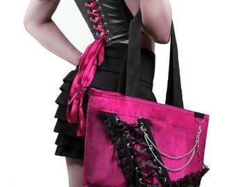 Gothic Purse, Gothic shoulder bag, unique and original design, handmade, corset style, purse, gothic, free shipping