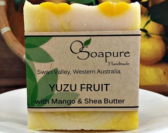 Yuzu Fruit Cold Process Soap with Mango & Shea Butter