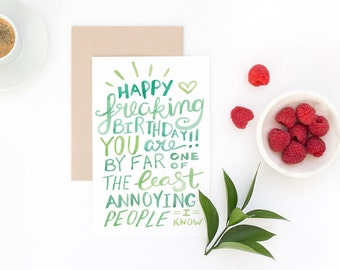 Funny Birthday Card - You Are Not Annoying - Best Friend Birthday Card, Brother Birthday Card, Husband Birthday Card, Introvert Card