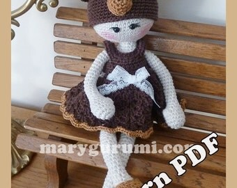 "Crochet Pattern, pattern, tutorial, Amigurumi Doll ""Bears"" Benedicta"