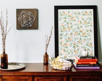 Geometric shape, Icosahedron, modern wall art, minimalist, home decor, living room wall art, bedroom wall art, entry way wall art, gift