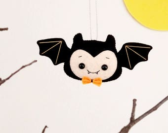 halloween ornament cute bat boy felt spooky stuffed toy hanging decoration halloween gift holiday decor scary - Halloween Hanging Decorations