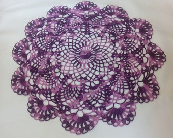 Crochet doily-Crochet doilies - Large doily-Round doily-Home decor-Color crochet doily-Melange doily-Mother'sDay-Handmade tablecloth