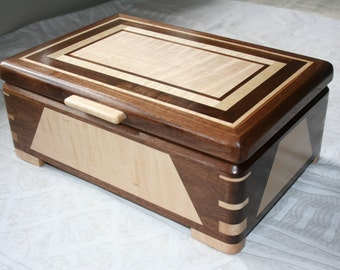 Wood Jewelry Box, Wooden Jewelry Box, Keepsake box, Jewelry Storage box, 3RDW