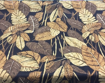 Las palmas Espresso Richloom on cotton duck John Wolf Fabric by the yard Multipurpose