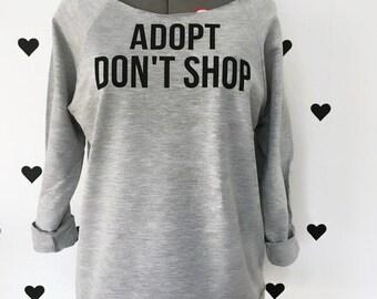 Adopt Don't Shop Dog shirts Dog mom shirts Adopt Don't Shop shirt Animal adoption shirts Dog adoption shirt Animal lover shirt 3/4 sleeve