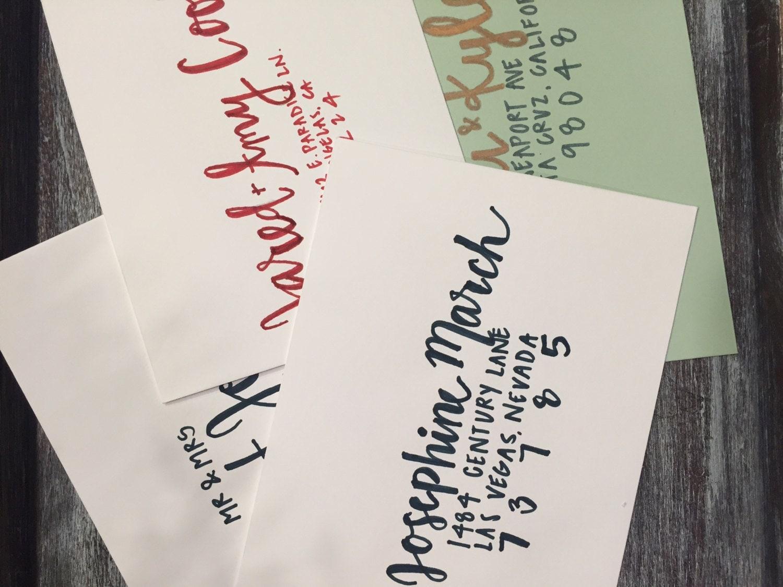 Custom Envelope Calligraphy/ handwritten invitation/wedding ...