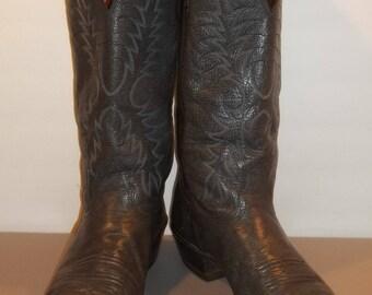 Vintage Boots Western Cowboy Boots Nocona Leather Boots Mens Cowboy Boots Size 9 D T27 M7032