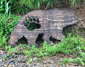 Rustic Grizzly Bear and Paw