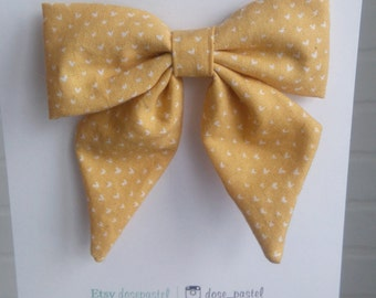 Grande barrette Wee Hearts boucle cheveux | Large sailor bow Wee Hearts hairbow