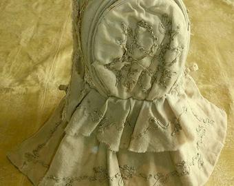 Antique  1870's Child's Bonnet To Restore