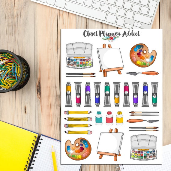 Basket Making Supplies Melbourne : Art supplies tools planner stickers