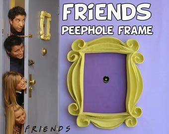 Friends tv show frame friends peephole frame friends door frame marco friends cadre rahmen regalo para hombre regalo para mujer gift mom