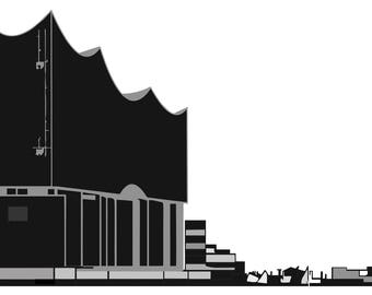 Elbe Philharmonic Hall silhouette (royalty free license)