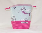 Sock Project Bag // Emily Sack // I'd Rather Be A Mermaid