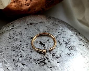 Rose Gold Nose Ring, Rose Gold Nose Hoop, Nose Ring With Ball End, Ball Nose Ring, Rose Gold Nose Stud, Rose Gold, Nose Ring