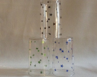 Three Star Pattern Swanky Swig Glasses