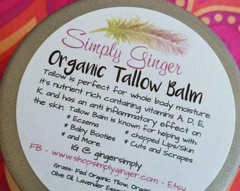 Organic Grass-Fed Tallow Balm// Tallow Balm // Skin Moisturizer