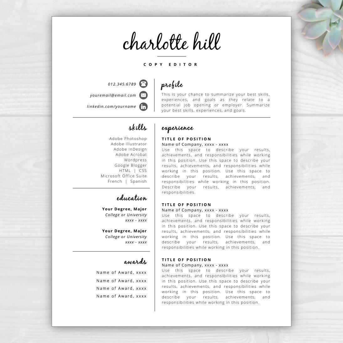 creative resume template resume icons resume template word