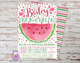 watermelon invites   etsy, Birthday invitations