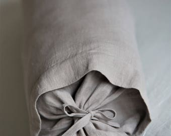 Linen bolster pillow cover. 11 colours bolster covers. Pure linen, softened with stonewashing candy pillow.