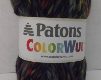 Patons ColorWul Yarn ~ 100% Wool ~ Colour Denim ~ #5 Bulky ~ 85 grams ~ 90 Yards