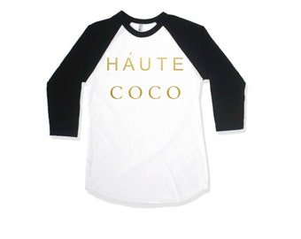 Kids Gold Shirt, Kids Raglan gold shirt, Haute Coco, Funny Kids Shirt, Maxandmaekids, max and mae