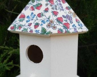 Fabric Covered Birdhouse - Garden Decor - Home Decor - READY TO SHIP!