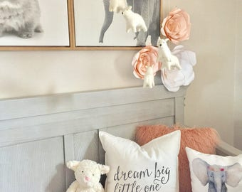 Dream Big little One Pillow Cover, childrens pillow cover