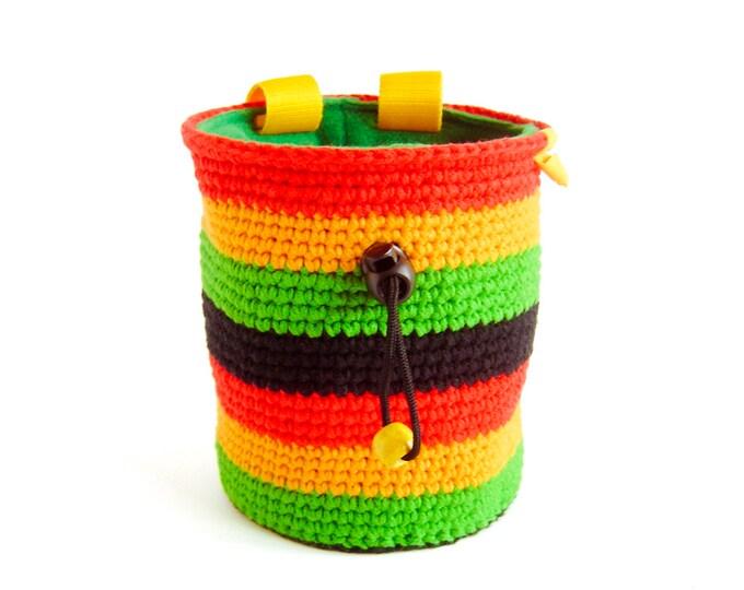 Rock Climbing Gifts, Rock Climbing Chalk Bag, Reggae Chalk Bag - Climbing Birthday Gift