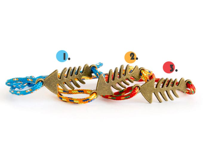 Fish Bone Jewelry, Fish Skeleton Bracelet, Fish Skeleton Jewelry