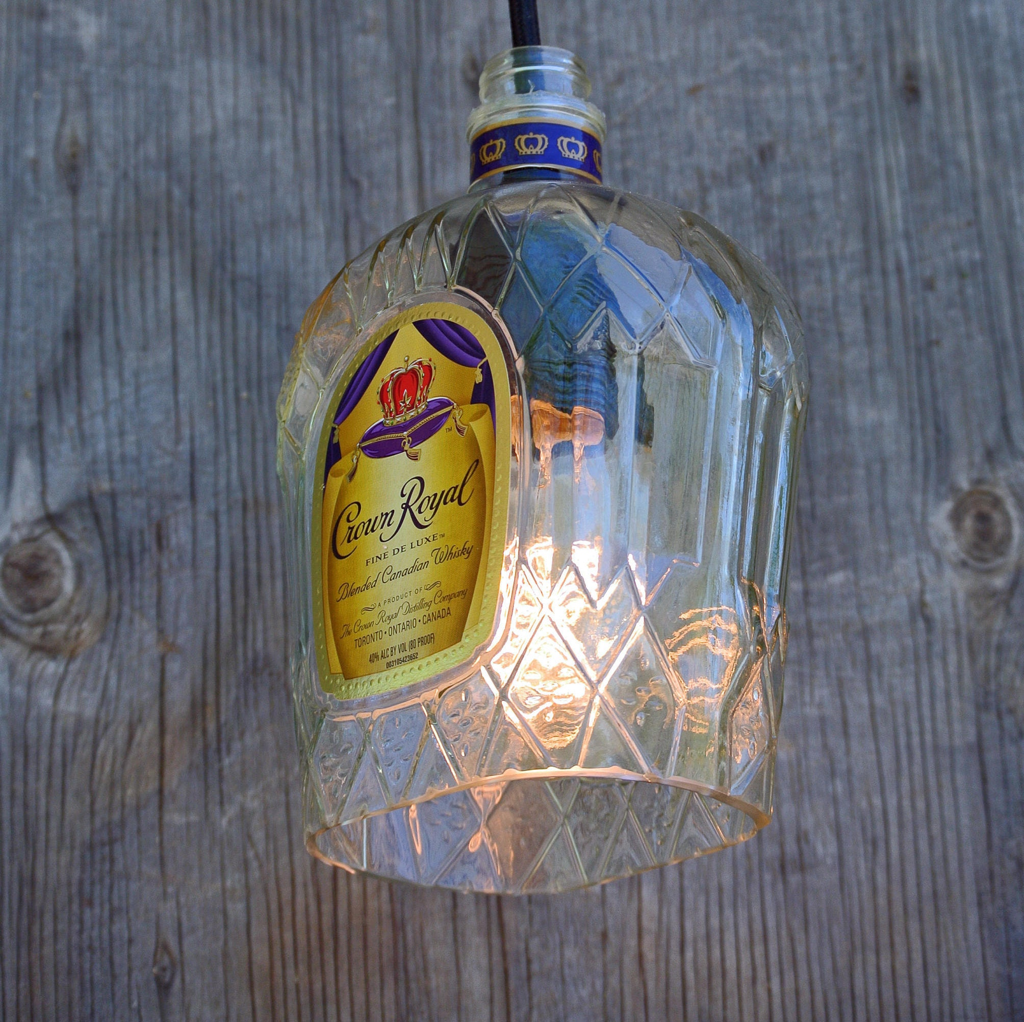 crown royal whisky pendant light shade glass pendant light cover bottle light bottle