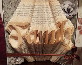 Family Folded Book - handmade gift