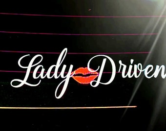 LADY DRIVEN Car Decal