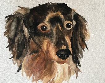 CUSTOM PET PORTRAIT | Original Watercolor Painting