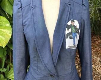 Harry Potter Blazer- Harry Potter- Work Blazer- Jacket- Harry Potter Gift- Eco Clothing- Vintage 2000 Harry Potter Fabric- Size 12