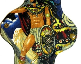 Aztec Man Cloth Pad, custom cloth pad, reusable cloth pad