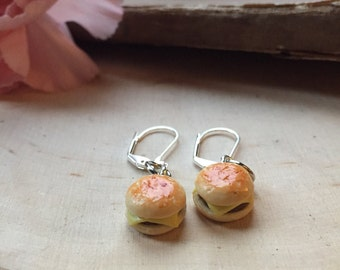 delicious cheeseburger earrings, gift for her