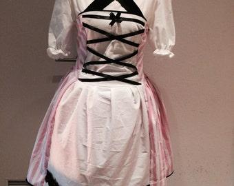Lolita Maid Dress pink white kawaii gyaru