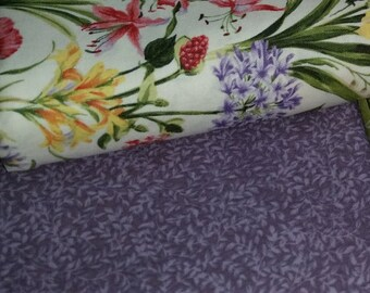 FF - Botanical Society - Per Yard - FabriQuilt - Lovely Collection - Purple Tonal