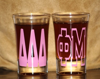 Greek Letters Shotglass - Fraternity, Sorority Shotglass