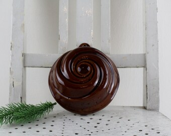 Bay cerabak W. Germany Backform Vintage ceramic round Ø 15 cm (5.90 inches) clay glaze Wall decoration for the kitchen