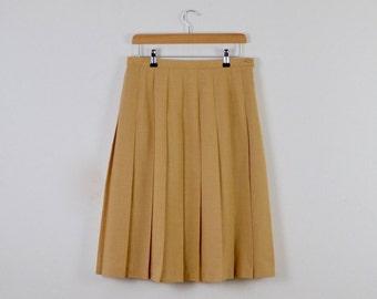 Vintage Skirt with Pleats |  Vintage Midi Pleated Skirt | Vintage Preppy Pleated Skirt