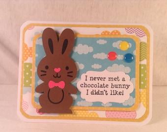 CHOCOLATE EASTER BUNNY Card