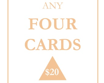 Any 4 Greeting cards