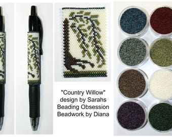 Country Willow by Sarahs Beading Obsession beaded pen kit (pattern sold separately)